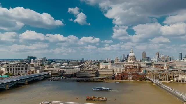Hyperlapse Of Central London, Uk: Stock Video