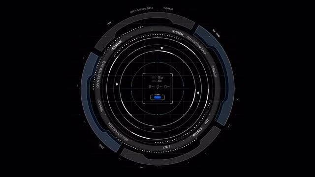 Circle HUD Display 2: Stock Motion Graphics