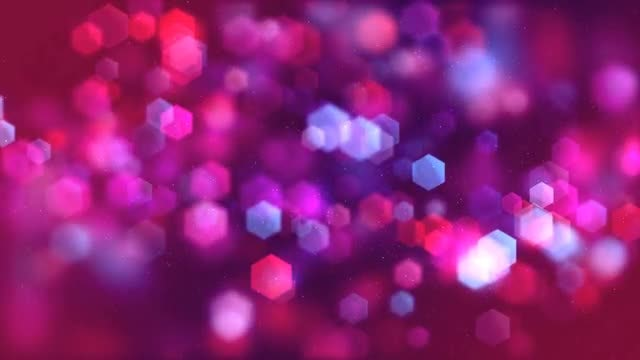 Hexagon Bokeh Background Loop: Stock Motion Graphics