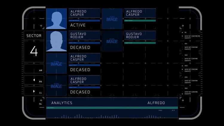 Complex List Display 2: Stock Motion Graphics