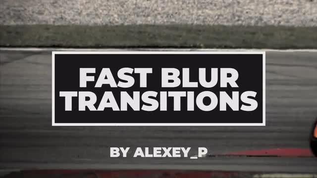 Fast Blur Transitions: Premiere Pro Templates