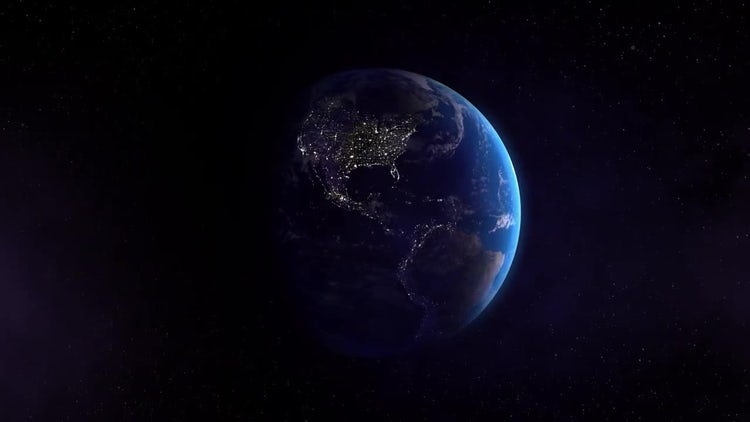 Earth West Night: Stock Motion Graphics
