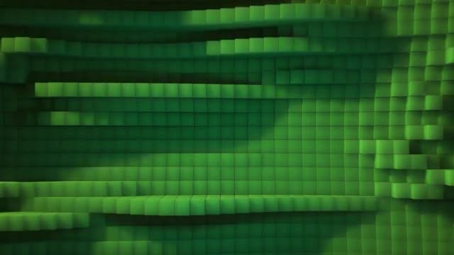 Green Cubic Abstract Background 2: Stock Motion Graphics