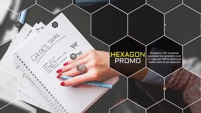 Elegant Hexagon Slideshow: Premiere Pro Templates