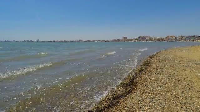 Waves Hitting Beach Time Lapse: Stock Video