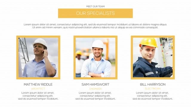 Construction Presentation: After Effects Templates