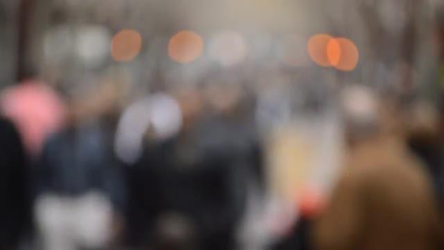 Dramatic Blur Crowd: Stock Video