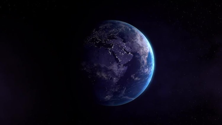 Earth East Night: Stock Motion Graphics