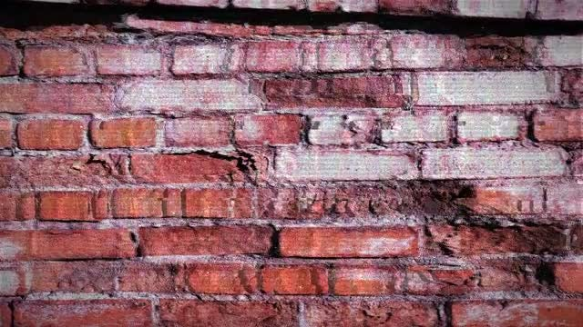 Grunge Brick Wall: Stock Motion Graphics