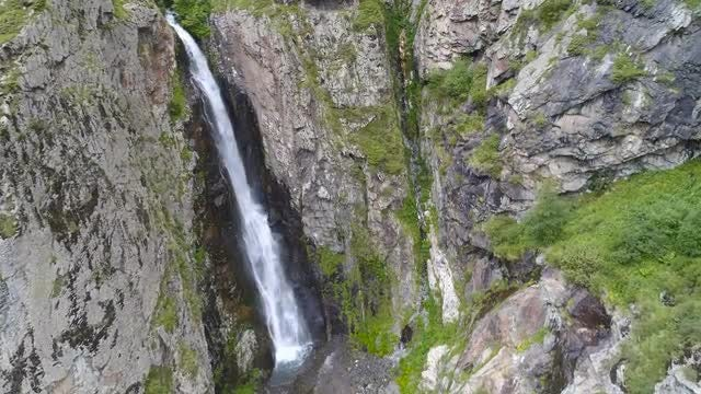 Aerial View Of Waterfall: Stock Video
