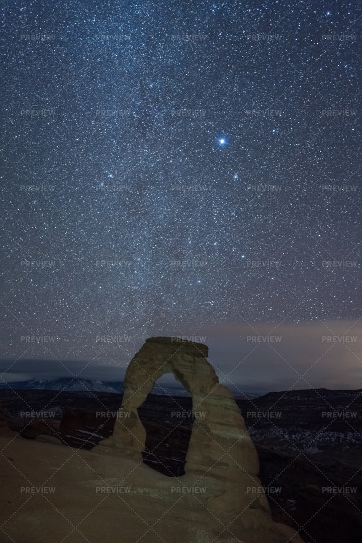 Milky Way At Night: Stock Photos