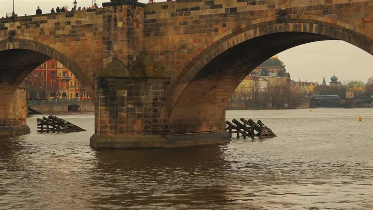 Charles Bridge In Prague, Czech Republic: Stock Video