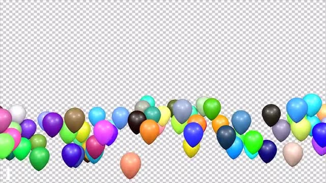 Balloons Transitions Pack: Stock Motion Graphics