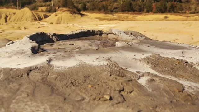 Close-up Shot Of Mud Volcano: Stock Video