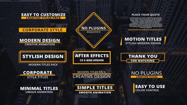15 Corporate Titles: Motion Graphics Templates