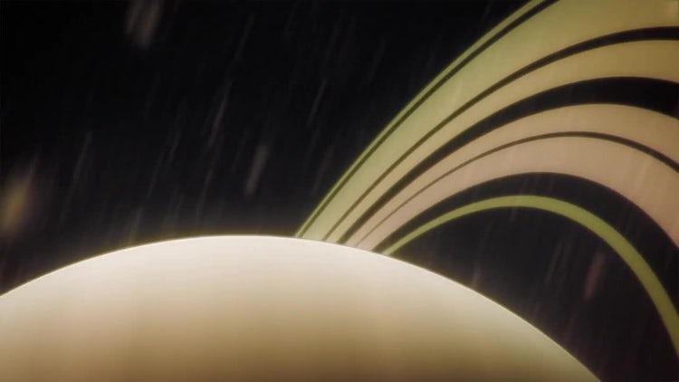 Slingshot Orbit Around Saturn: Stock Motion Graphics