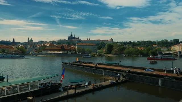 Prague Downtown Panorama: Stock Video