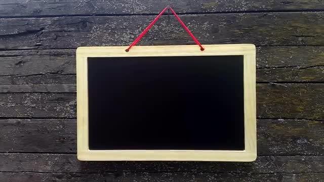 Empty Blackboard On Old Board: Stock Video