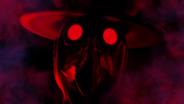 Flashing Plague Doctor VJ Loop: Stock Motion Graphics
