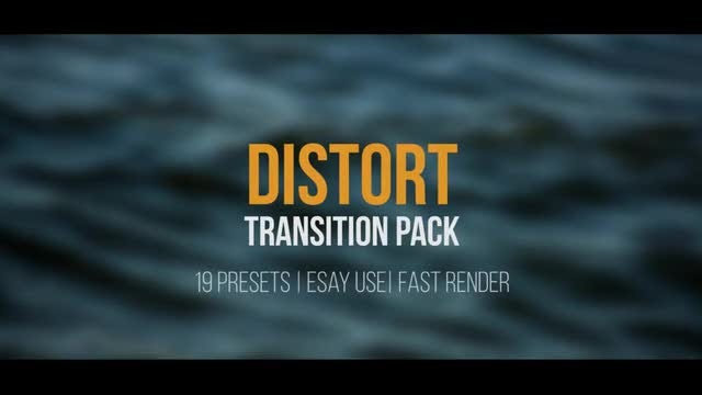 Distort Transition Pack: Premiere Pro Presets