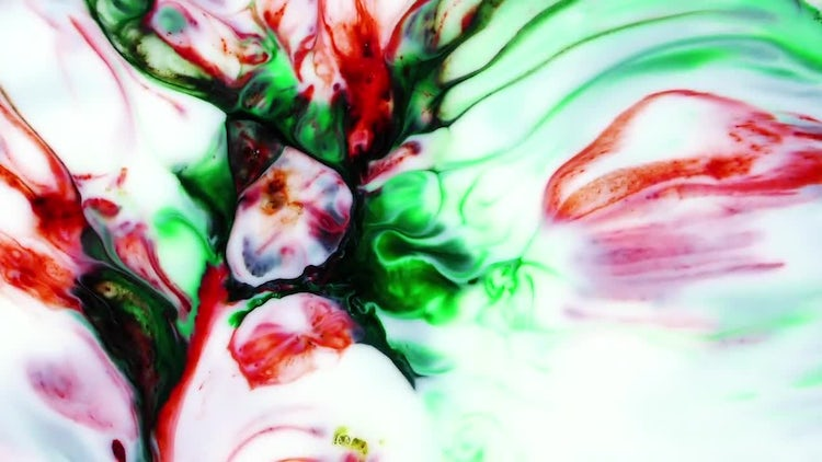 Abstract Colorful Ink Explode 3: Stock Video