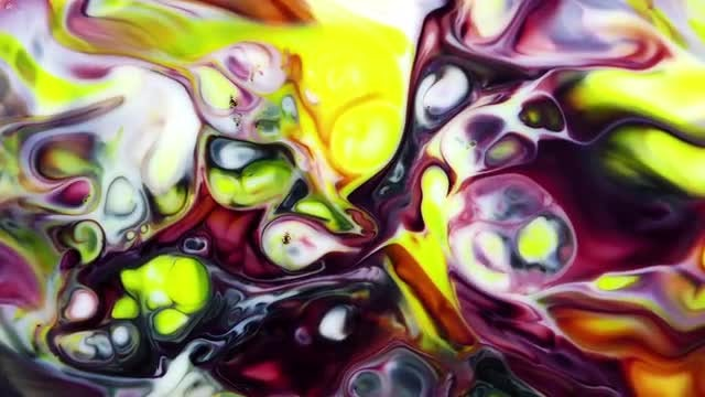 Abstract Colorful Ink Explode 4: Stock Video