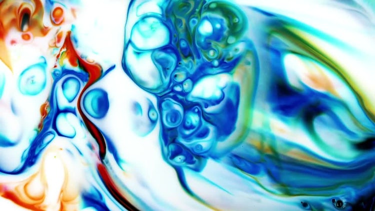 Abstract Colorful Ink Explode 5: Stock Video