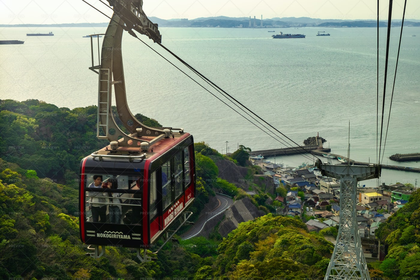 Cable Car And Sea: Stock Photos
