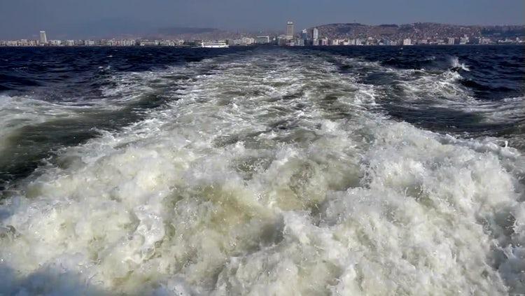 Foamy Boat Wake: Stock Video