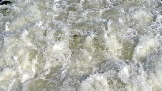 Churning Wake In Slow Motion: Stock Video