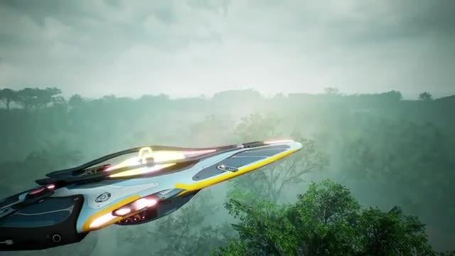 Alien Spaceship: Stock Motion Graphics
