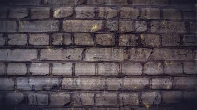 Gray Brick Wall With Embers: Stock Motion Graphics