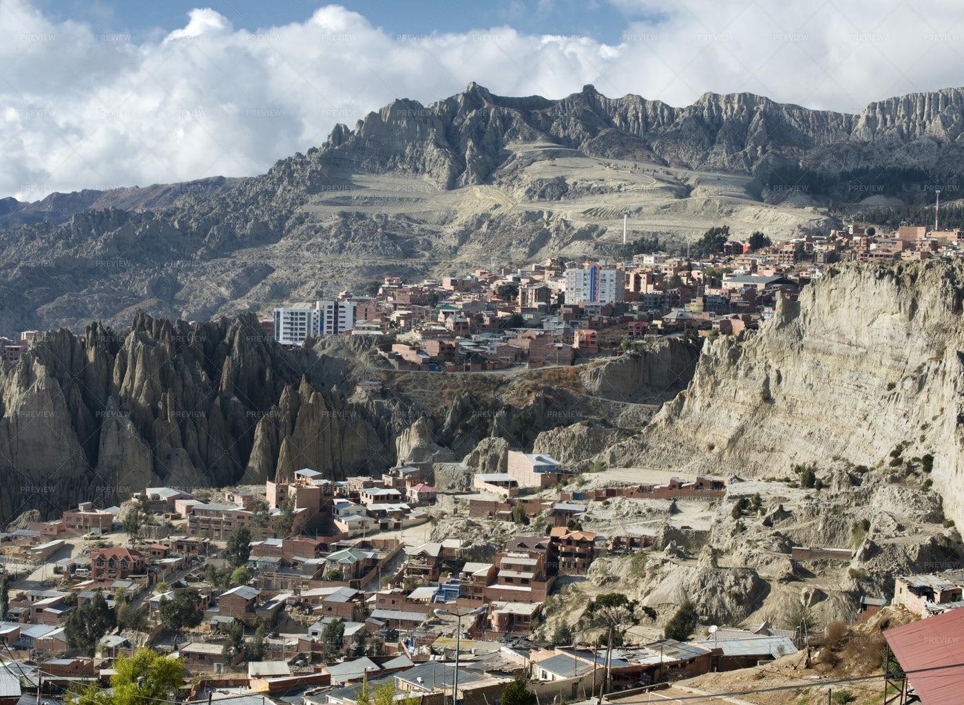 El Alto In La Paz: Stock Photos