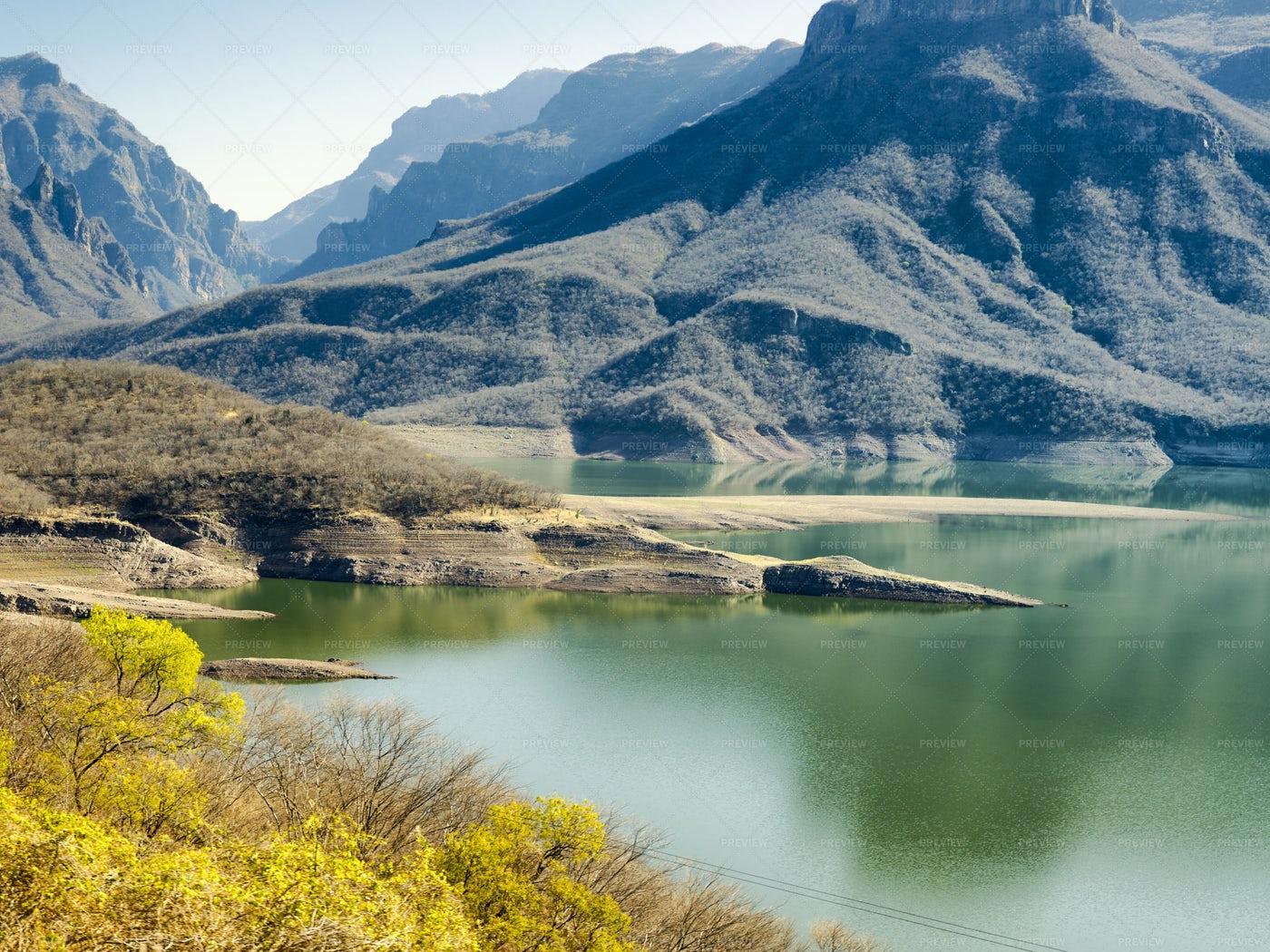 Mountainous Landscapes Of Copper Canyon: Stock Photos