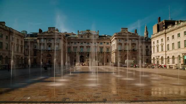 Somerset House, London, UK: Stock Video