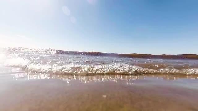 Ocean Waves On The Beach: Stock Video