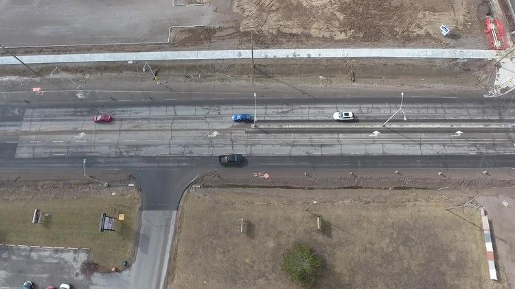 Aerial Shot Of Rundown Road: Stock Video