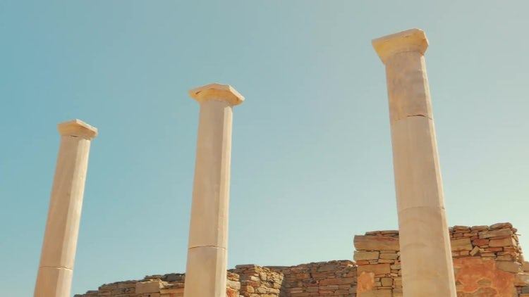 The House of Dionysos, Delos, Greece: Stock Video