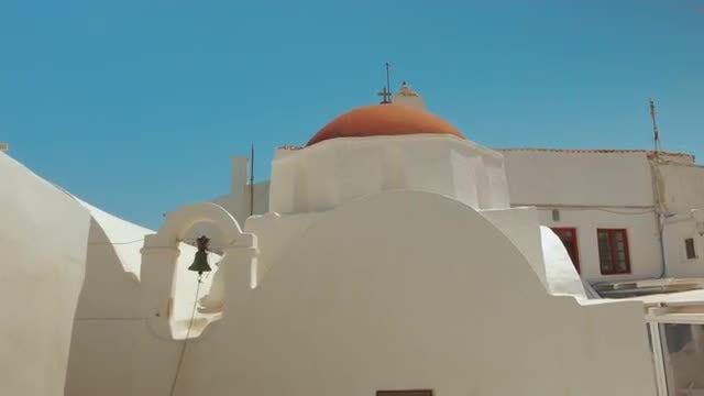 POV Of Panagia Paraportiani Church: Stock Video