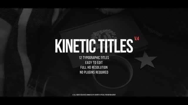 Kinetic Title v.4: Premiere Pro Templates