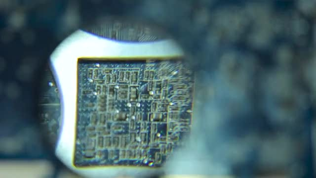 Computer Motherboard Magnified: Stock Video
