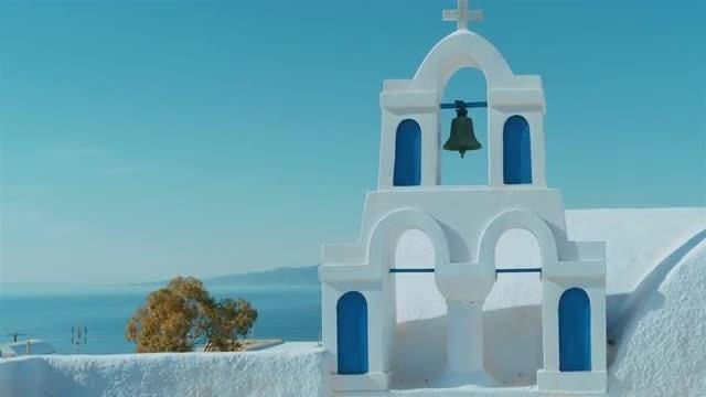 Traditional Church In Santorini, Greece: Stock Video