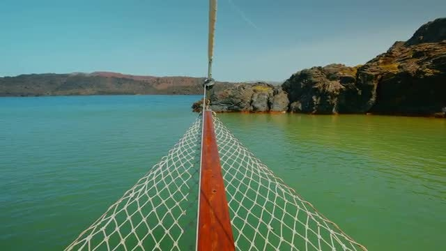 Wide-angle Shot Of Santorini Island: Stock Video