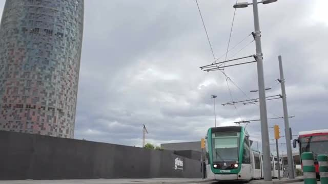 Tram In Barcelona: Stock Video