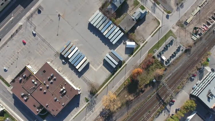 Aerial Shot Of Shipping Company: Stock Video