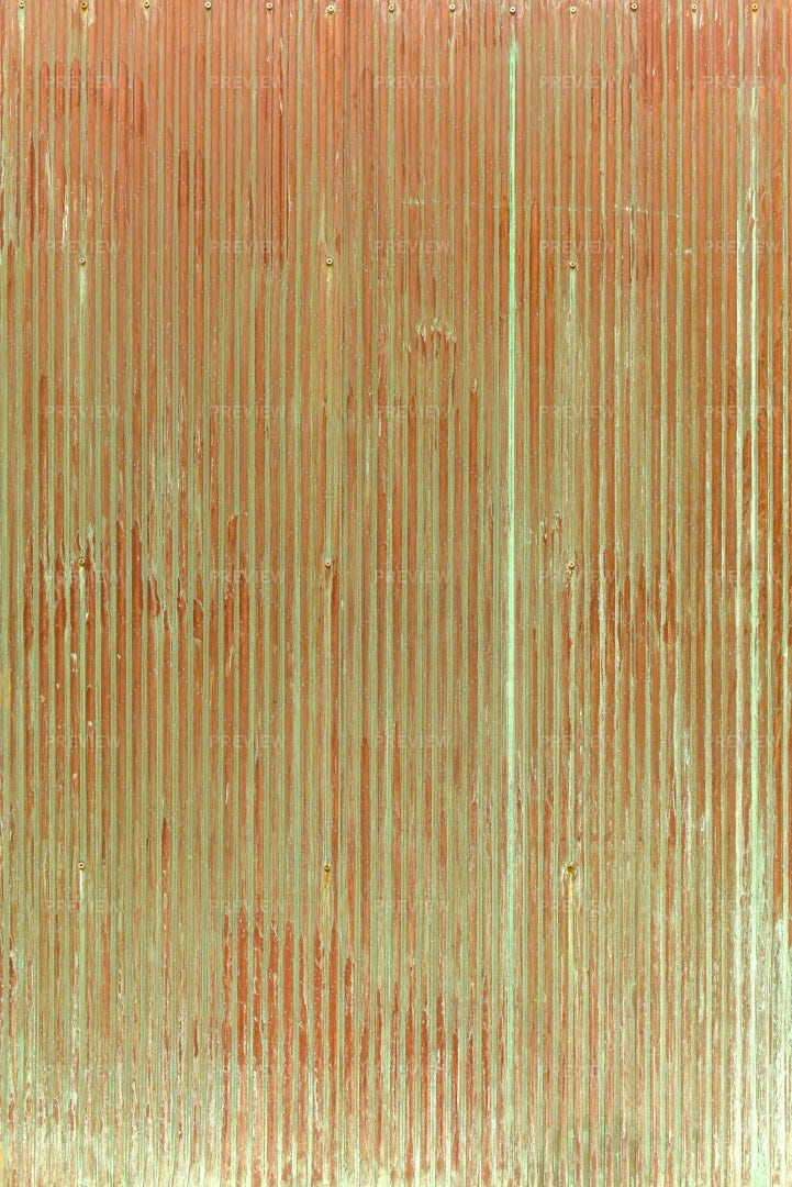 Red Grooved Fence: Stock Photos