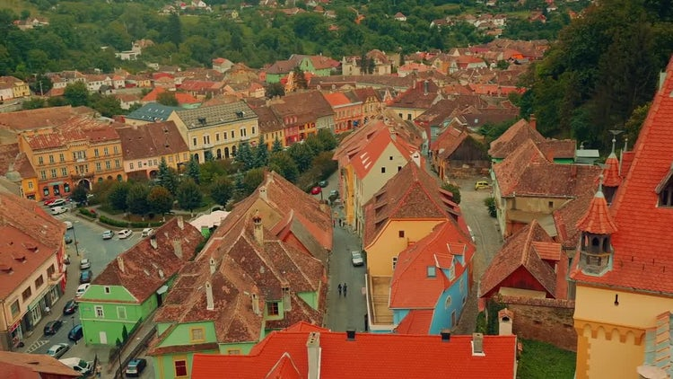 The Medieval Town Of Sighisoara, Transylvania: Stock Video