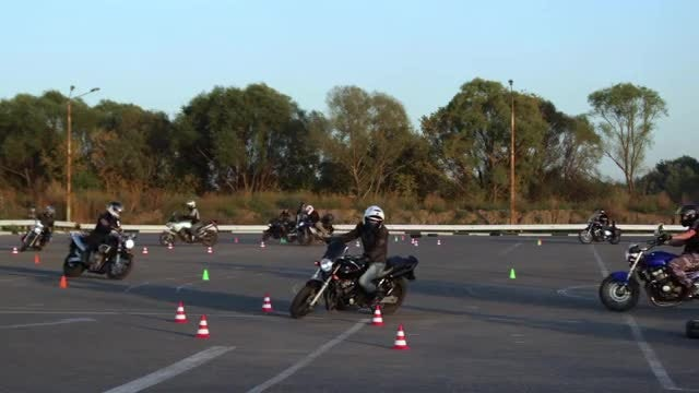 Training Ground For Motorcyclists: Stock Video