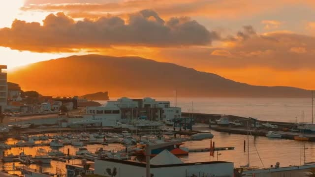 Beautiful Sunrise In The Azores: Stock Video