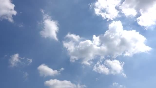 Time Lapse Of White Clouds : Stock Video